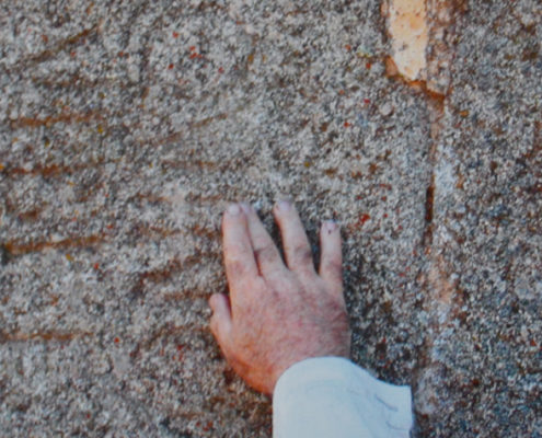 Lápida romana de granito
